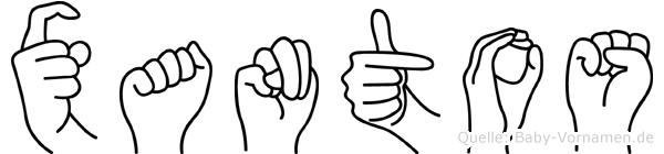 Xantos in Fingersprache für Gehörlose
