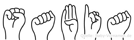 Sabia im Fingeralphabet der Deutschen Gebärdensprache