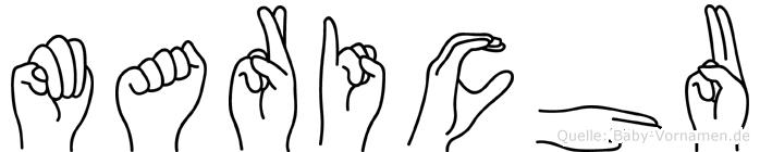 Marichu im Fingeralphabet der Deutschen Gebärdensprache