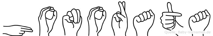 Honorata in Fingersprache für Gehörlose