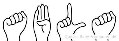 Abla im Fingeralphabet der Deutschen Gebärdensprache