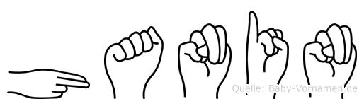 Hanin in Fingersprache für Gehörlose