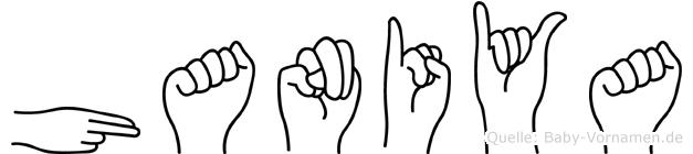 Haniya in Fingersprache für Gehörlose