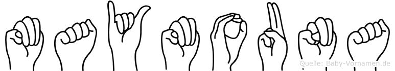Maymouna im Fingeralphabet der Deutschen Gebärdensprache