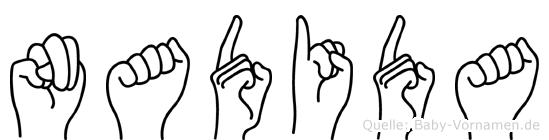 Nadida im Fingeralphabet der Deutschen Gebärdensprache
