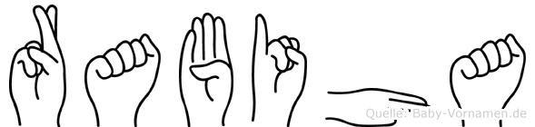 Rabiha in Fingersprache für Gehörlose