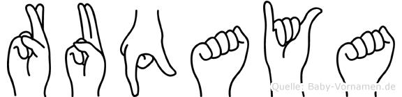 Ruqaya im Fingeralphabet der Deutschen Gebärdensprache