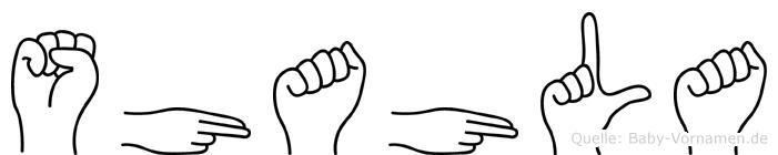 Shahla in Fingersprache für Gehörlose