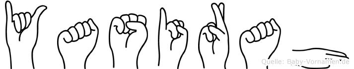 Yasirah in Fingersprache für Gehörlose
