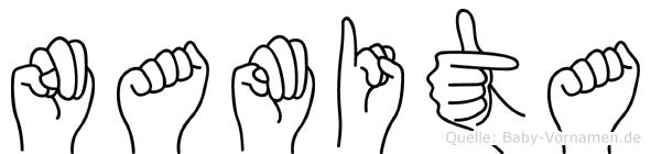 Namita in Fingersprache für Gehörlose