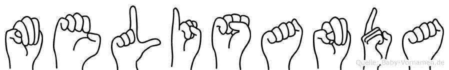 Melisanda in Fingersprache für Gehörlose