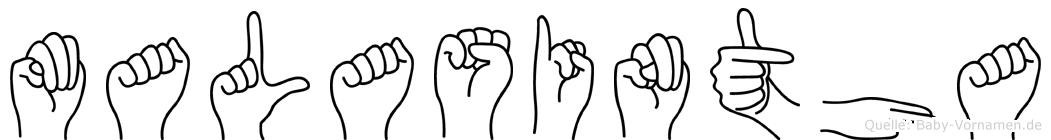 Malasintha in Fingersprache für Gehörlose