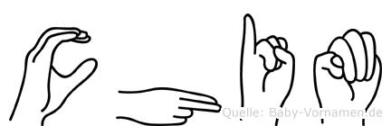 Chim im Fingeralphabet der Deutschen Gebärdensprache
