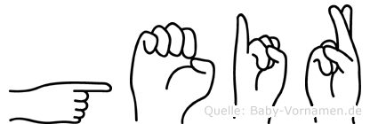 Geir in Fingersprache für Gehörlose