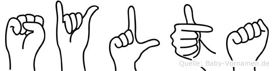 Sylta in Fingersprache für Gehörlose