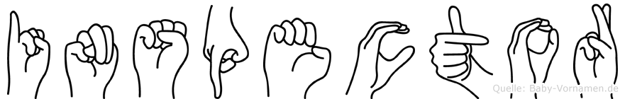 Inspector in Fingersprache für Gehörlose