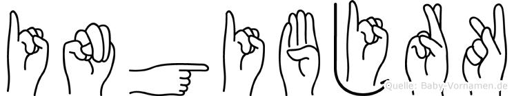 Ingibjörk in Fingersprache für Gehörlose