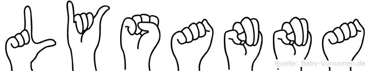 Lysanna in Fingersprache für Gehörlose