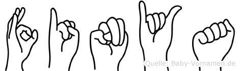 Finya im Fingeralphabet der Deutschen Gebärdensprache