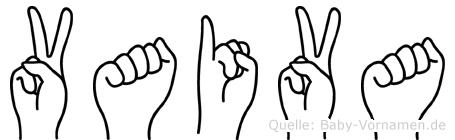 Vaiva in Fingersprache für Gehörlose