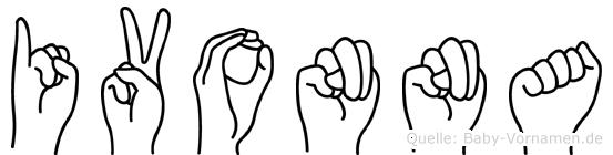 Ivonna im Fingeralphabet der Deutschen Gebärdensprache