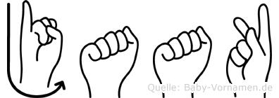 Jaak in Fingersprache für Gehörlose