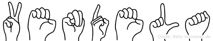 Vendela im Fingeralphabet der Deutschen Gebärdensprache