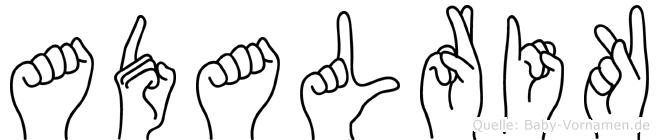Adalrik in Fingersprache für Gehörlose