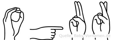 Ogur in Fingersprache für Gehörlose