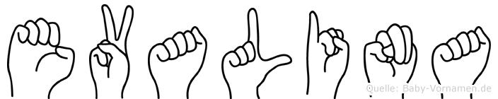 Evalina in Fingersprache für Gehörlose