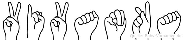 Vivanka in Fingersprache für Gehörlose