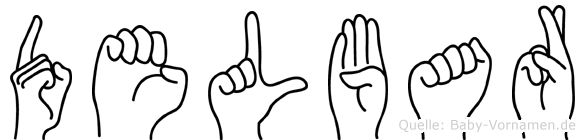 Delbar in Fingersprache für Gehörlose