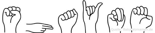Shayne im Fingeralphabet der Deutschen Gebärdensprache