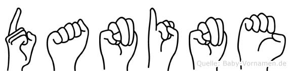 Danine im Fingeralphabet der Deutschen Gebärdensprache