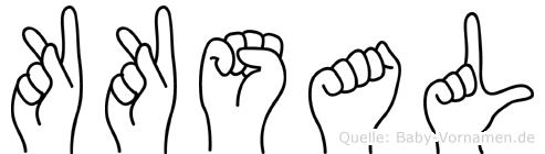 Köksal in Fingersprache für Gehörlose