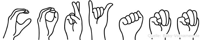 Coryann in Fingersprache für Gehörlose