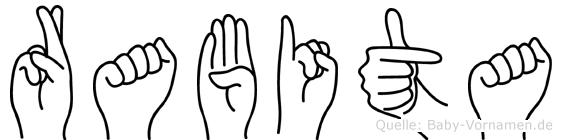Rabita in Fingersprache für Gehörlose