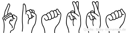 Diarra in Fingersprache für Gehörlose