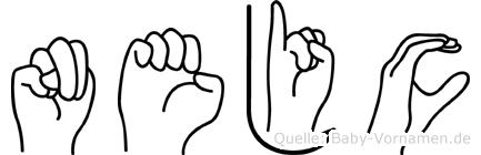 Nejc im Fingeralphabet der Deutschen Gebärdensprache