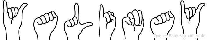 Yalinay im Fingeralphabet der Deutschen Gebärdensprache
