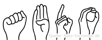 Abdo in Fingersprache für Gehörlose