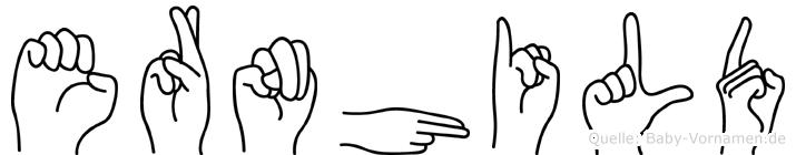 Ernhild in Fingersprache für Gehörlose