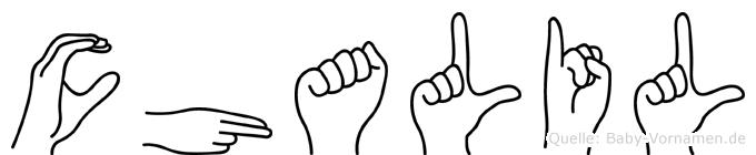 Chalil in Fingersprache für Gehörlose