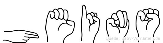 Heins in Fingersprache für Gehörlose
