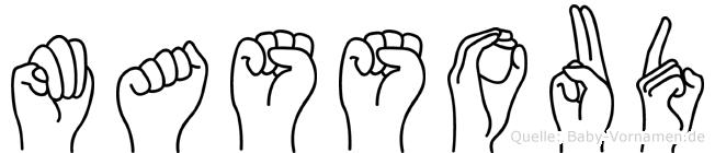 Massoud in Fingersprache für Gehörlose
