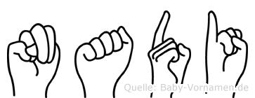 Nadi in Fingersprache für Gehörlose