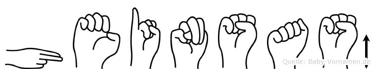 Heinsaß in Fingersprache für Gehörlose