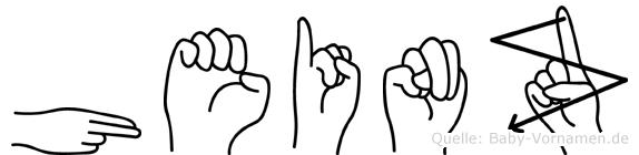 Heinz in Fingersprache für Gehörlose