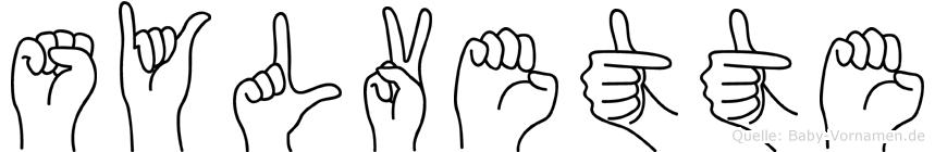 Sylvette in Fingersprache für Gehörlose