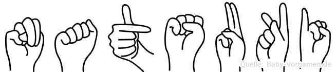 Natsuki im Fingeralphabet der Deutschen Gebärdensprache